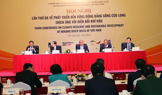 Thủ tướng chủ trì Hội nghị lần thứ 3 về phát triển bền vững ĐBSCL thích ứng với BĐKH