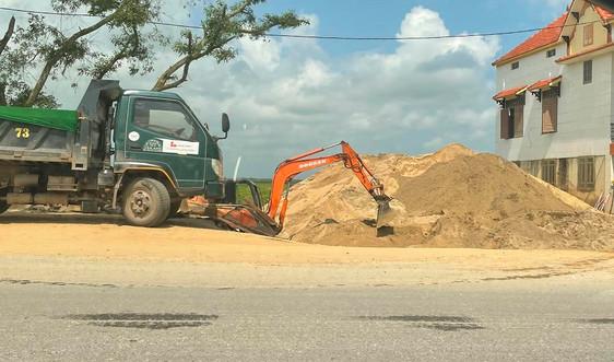 Lệ Thủy – Quảng Bình: Hai bãi tập kết cát không phép vẫn hoạt động nhiều năm?