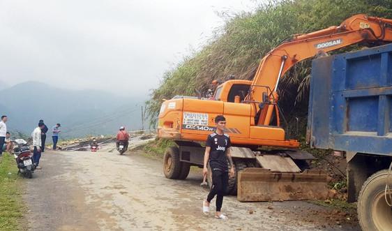 Lào Cai: Khẩn trương khắc phục sạt lở bất thường tại tỉnh lộ 152