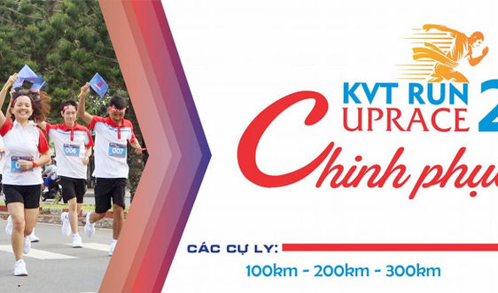 Gần 200 VĐV tham gia giải chạy bộ tích lũy KVT RUN UPRACE 2021