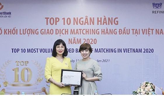 LienVietPostBank lọt Top 10 Ngân hàng có khối lượng giao dịch Matching lớn nhất thị trường ngoại hối Việt Nam 2020