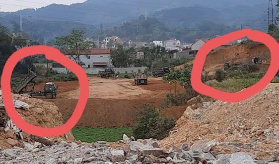 TP.Lạng Sơn: Vô tư san đồi để lấp đất trồng lúa