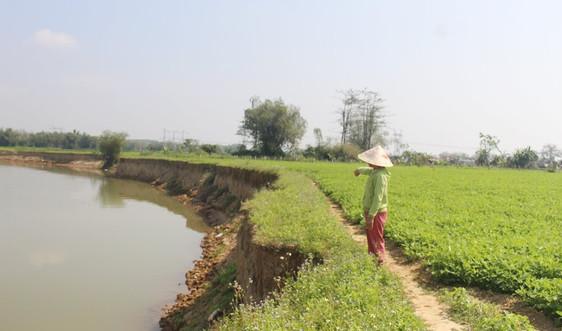 Quảng Nam: Xót xa đứng nhìn đất nông nghiệp trôi theo dòng nước