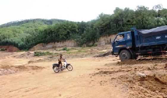 Hà Tĩnh đóng cửa mỏ đá do doanh nghiệp đã giải thể