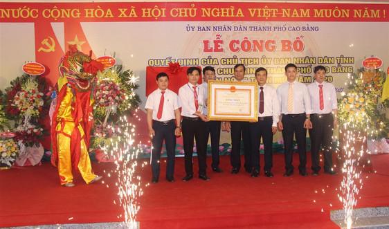 TP Cao Bằng: Lễ công bố xã Chu Trinh đạt chuẩn Nông thôn mới