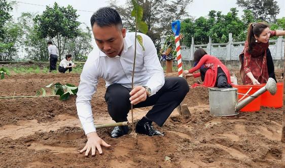 """Chương trình """"Chùa Xanh"""": Trồng hơn 1.000 cây xanh tại Chùa Thắng Phúc (Hải Phòng)"""