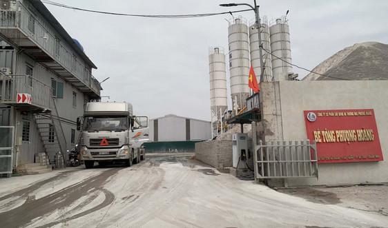 Quảng Ninh: Trạm trộn bê tông của Công ty CP Xây dựng và Thương mại Phượng Hoàng hoạt động trái phép gây ô nhiễm