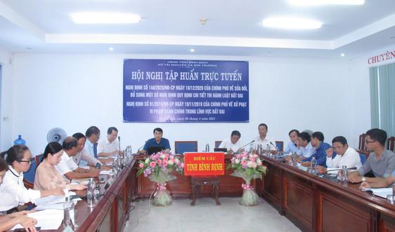 Bình Định: Tập huấn sửa đổi, bổ sung thi hành Luật Đất đai và xử phạt vi phạm hành chính đất đai