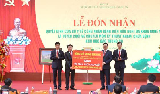 Bệnh viện Hữu nghị đa khoa Nghệ An trở thành bệnh viện tuyến cuối khu vực Bắc Trung Bộ