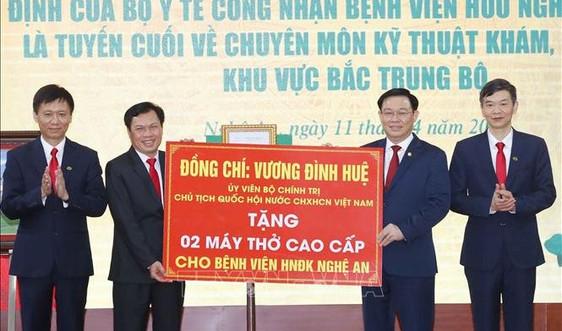 Chủ tịch Quốc hội Vương Đình Huệ thăm, làm việc tại tỉnh Nghệ An