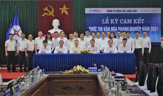 PC Lạng Sơn: Tổ chức Lễ ký cam kết thực thi văn hóa doanh nghiệp năm 2021