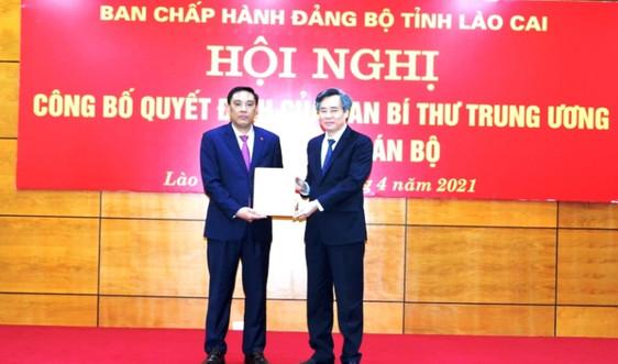 Lào Cai có thêm Phó Bí thư Tỉnh ủy