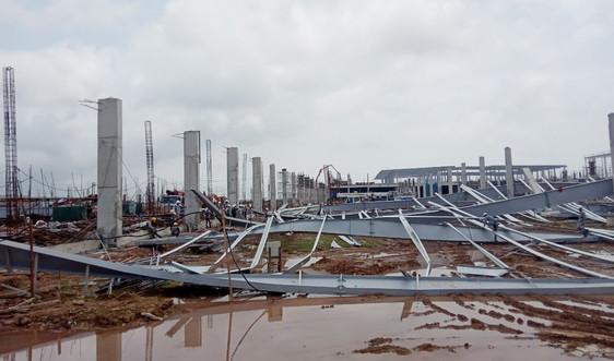 Quảng Ninh: Đổ sập hơn 10.000 m2 nhà xưởng đang thi công tại KCN Cảng biển Hải Hà
