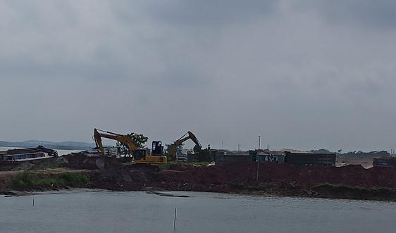 """Quế Võ – Bắc Ninh: Cảng tự phát """"mọc"""" trên bãi trồng màu gây ô nhiễm"""