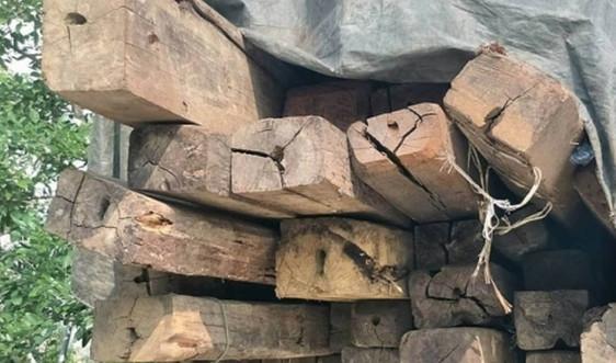 Hà Tĩnh: Chặn xe tải vận chuyển lượng lớn gỗ không rõ nguồn gốc
