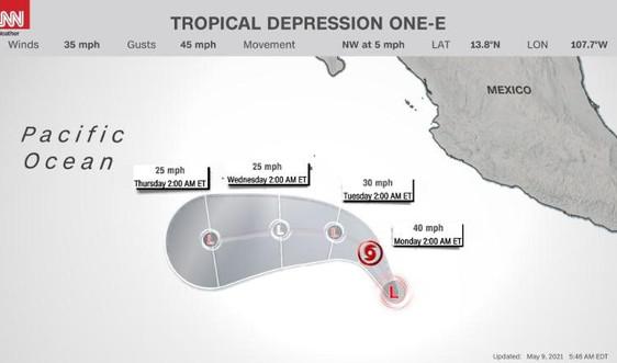 Bãonhiệt đới Andres đổ bộ phía Đông Thái Bình Dương