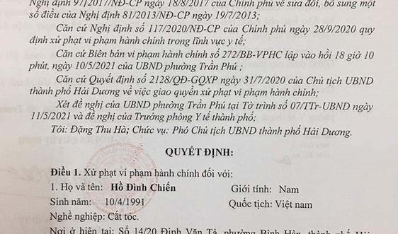 Hải Dương: Xử phạt nghiêm vi phạm phòng chống dịch Covid - 19