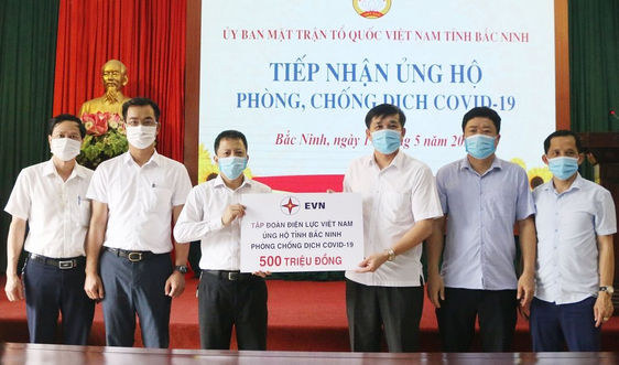 Tập đoàn Điện lực Việt Nam ủng hộ 1,5 tỉ đồng cho 3 địa phương chống dịch Covid-19