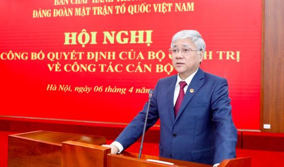 Chủ tịch MTTQVNĐỗ Văn Chiến chúc mừng Đại lễ Phật đản của đồng bào Phật giáo