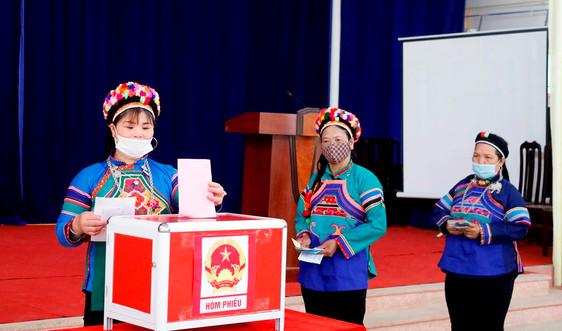 99,56% cử tri Lào Cai đi bầu cử đại biểu Quốc hội khóa XV và đại biểu HĐND các cấp