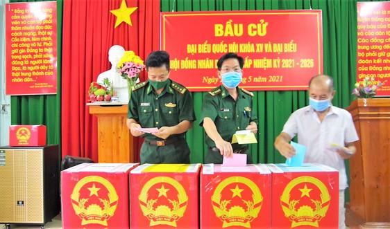 Cử tri Bộ đội Biên phòng Bà Rịa – Vũng Tàu tích cực tham gia ngày hội non sông