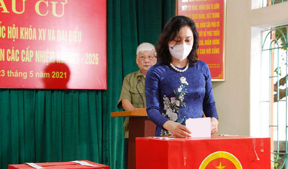 Hà Nam: Đến 10 giờ sáng 23/5 đã có 64,25% cử tri đi bầu cử ĐBQH khoá XV và đại biểu HĐND các cấp