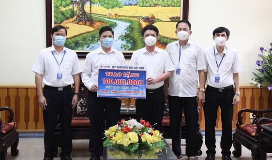 EVN động viên chia sẻ  cán bộ, nhân viên Công ty Điện lực Bắc Giang