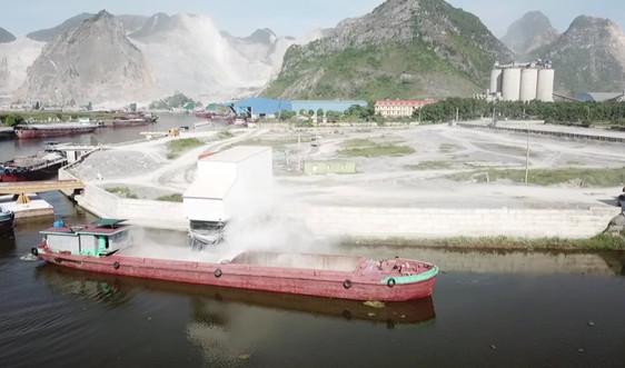 """Hà Nam: Dân """"tố"""" cụm cầu cảng của Công ty Sơn Hữu gây ô nhiễm môi trường"""