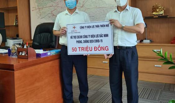 Điện lực Thừa Thiên Huế hỗ trợ Điện lực Bắc Ninh 50 triệu đồng phòng, chống dịch COVID – 19