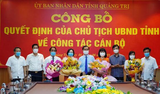 Quảng Trị công bố các quyết định của Chủ tịch UBND tỉnh về công tác cán bộ