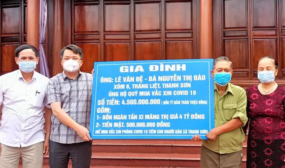 Thanh Hà (Hải Dương): Một gia đình ủng hộ gần 4,5 tỷ đồng mua Vaccine phòng, chống COVID-19