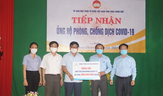 Thừa Thiên Huế: Quyên góp, ủng hộ quỹ vắc - xin phòng COVID - 19