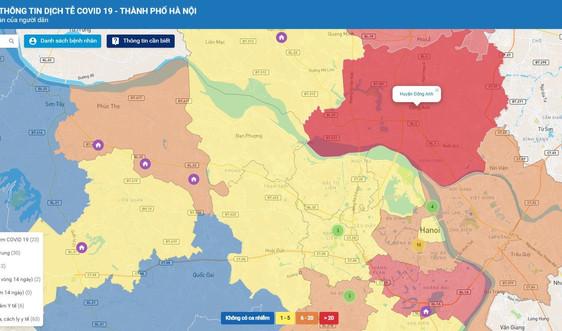 Ra mắt Bản đồ thông tin dịch tễ COVID-19 Hà Nội
