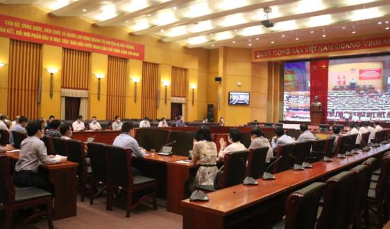 Đảng ủy Bộ TN&MT kết nối với Hội nghị trực tuyến sơ kết 5 năm thực hiện Chỉ thị số 05-CT/TW