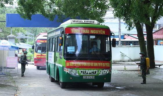Thái Nguyên: Đón người lao động từ tâm dịch Bắc Giang trở về quê hương