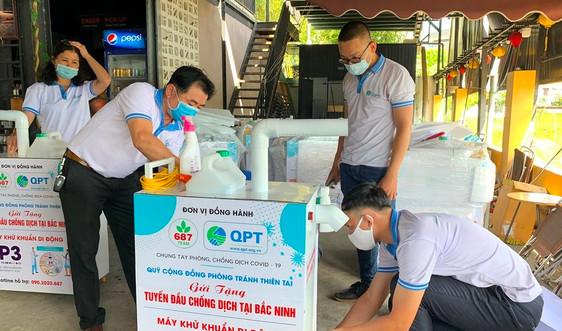 Quỹ Cộng đồng phòng tránh thiên tai tặng máy sát khuẩn di động cho Bắc Giang, Bắc Ninh