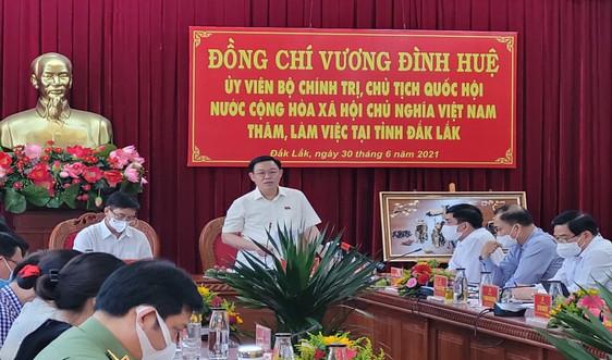 Chủ tịch Quốc hội Vương Đình Huệ làm việc tại Đắk Lắk