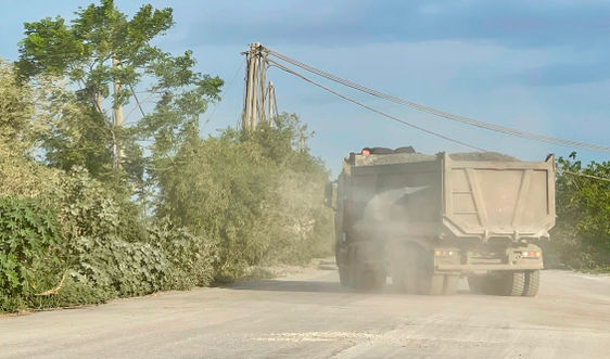 Ninh Bình: Xe tải trọng lớn đày ải đê hữu Đáy