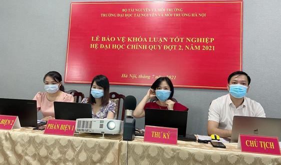 Đại học Tài nguyên và Môi trường Hà Nội bảo vệ khoá luận tốt nghiệp online