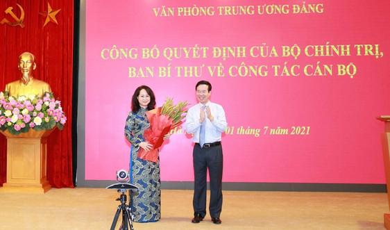 Bổ nhiệm Bí thư Tỉnh ủy Lạng Sơn giữ chức Phó Chánh Văn phòng Trung ương Đảng