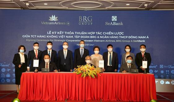 Vietnam Airlines, Tập đoàn BRG và SeABank ký kết thỏa thuận hợp tác chiến lược