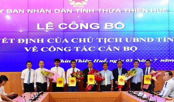 Thừa Thiên Huế: Bổ nhiệm lãnh đạo Sở Tài chính, Sở Du lịch và Sở NN&PTNT