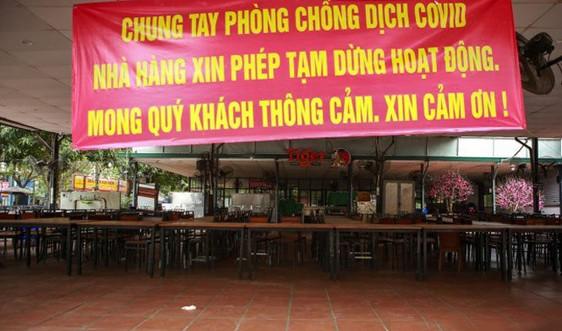 Hà Nội tạm dừng dịch vụ ăn, uống tại chỗ, cửa hàng cắt tóc, gội đầu từ 0 giờ ngày 13/7