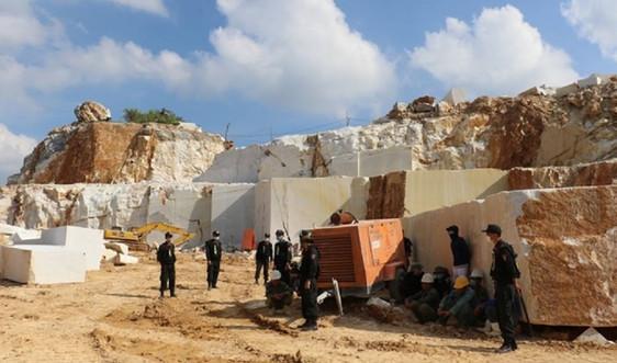 Nghệ An: Bắt vụ khai thác đá trắng trái phép quy mô lớn