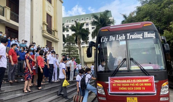 Hơn 400 cán bộ, sinh viên y tỉnh Thái Bình lên đường chi viện cho TP.HCM chống dịch