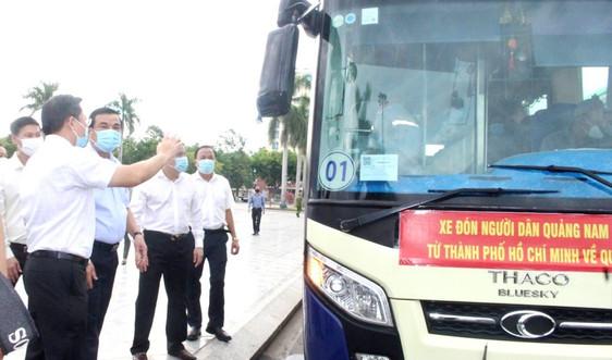 Quảng Nam đưa xe đón đồng hương và chở 100 tấn nông sản hỗ trợ TP Hồ Chí Minh