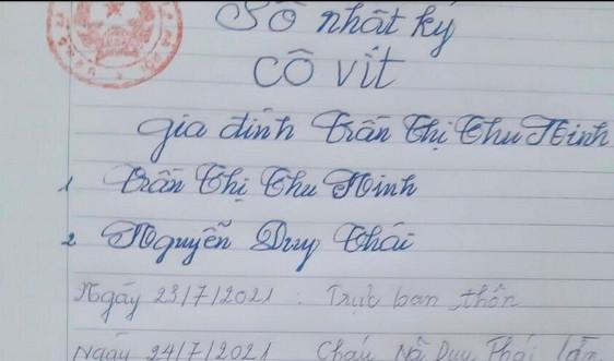 Sổ nhật ký phòng chống Covid-19 - cách làm độc đáo của người dân Cổ Đô