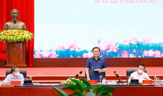 Chủ tịch Quốc hội Vương Đình Huệ làm việc với Bộ TN&MT về tiến độ, các bước chuẩn bị sửa đổi Luật Đất đai 2013