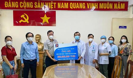Petrolimex Sài Gòn trao 300 triệu đồng tặng Bệnh viện Quận 1