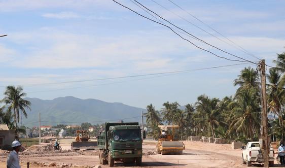 Bình Định đẩy nhanh tiến độ thi công dự án Tuyến đường ven biển đoạn từ cầu Lại Giang đến cầu Thiện Chánh